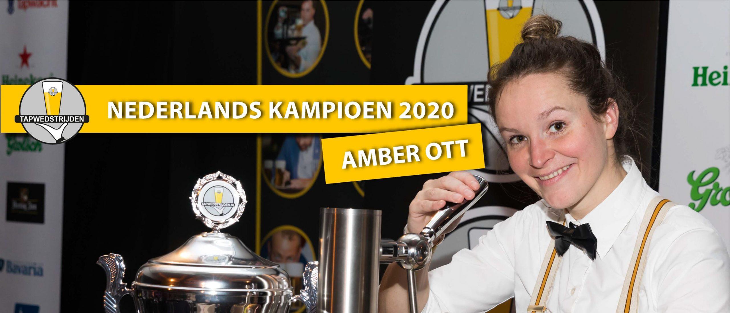 Amber Ott Nederlands Kampioen Biertappen 2020